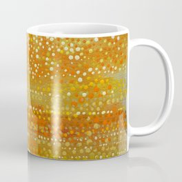 Landscape Dots - Orange Coffee Mug