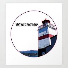 Brockton Point Lighthouse Art Print