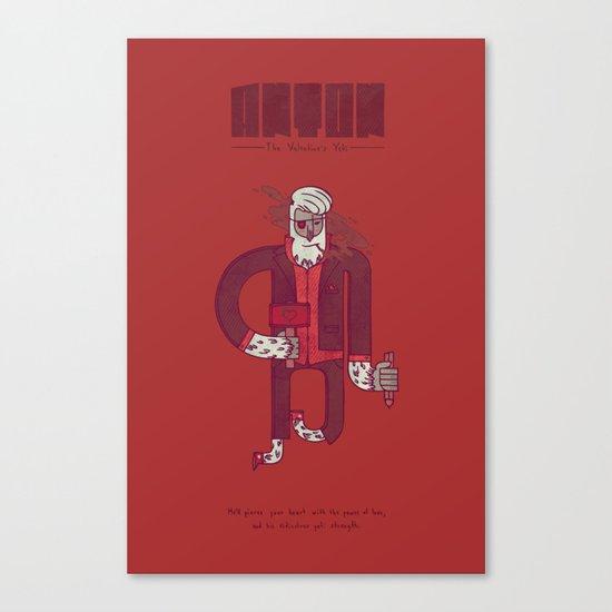 Anton, The Valentine's Yeti Canvas Print