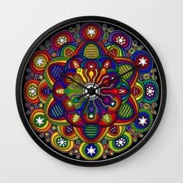 Mandala 42 - Psychedelic Mandala Rainbow series Wall Clock