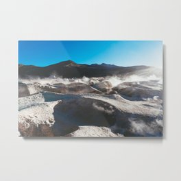 Geysers in the Atacama Desert, Bolivia Metal Print