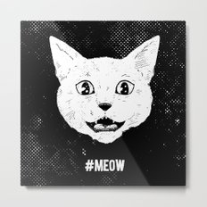 #MEOW Metal Print