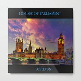 Houses of Parliament - London Metal Print