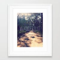 wanderlust Framed Art Prints featuring Wanderlust by Louise