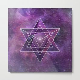 Metatron's Merkaba  Metal Print