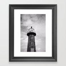 Whitby Lighthouse Framed Art Print