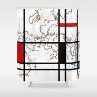 maps Shower Curtains featuring MIX MAPS by MehrFarbeimLeben
