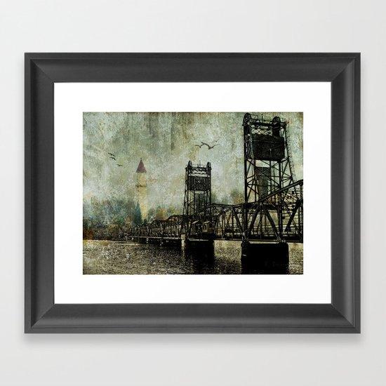 Beyond the Bridge Framed Art Print