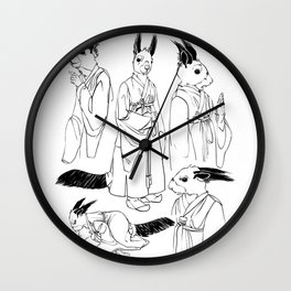 Sharp Tooth character design, inks Wall Clock