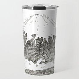 Mt Fuji and Delphines Travel Mug