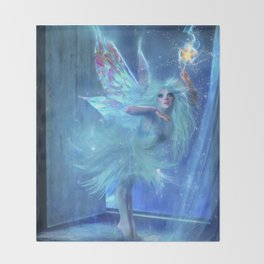 The Blue Fairy Throw Blanket