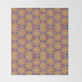 hippie - pattern colorfull Throw Blanket
