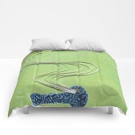 Pipe paper art print Comforters