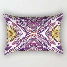 Pink Feathers - Mirrored print Rectangular Pillow