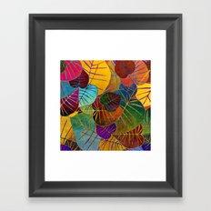 Leaf Pattern 4 Framed Art Print
