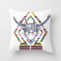 kris tate Throw Pillows featuring DREAMTAPES, created by Elena Mir and Kris Tate by Serpentine