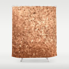 Geometrical elegant abstract faux gold ombre Shower Curtain
