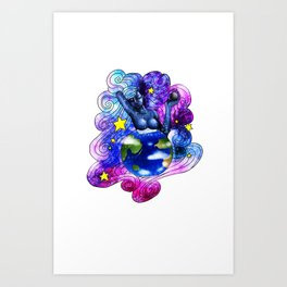 Universe expanded Art Print