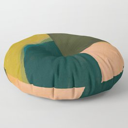 The Colliding Of Two Greens Floor Pillow