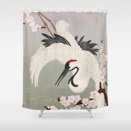 Japanese Crane Shower Curtain