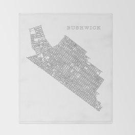 Bushwick, NY Throw Blanket