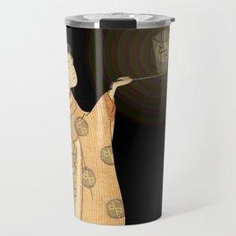 Japanese Cherry Blossom Japanese Woodblock Art Print Night Lamp Travel Mug