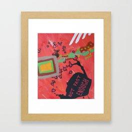 """""""Not Fast Enough Framed Art Print"""