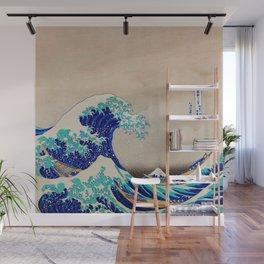 extreme waves-by-Katsushika Hokusai Wall Mural