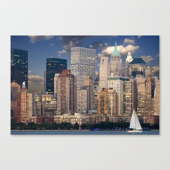 Downtown NYC at twilight Canvas Print