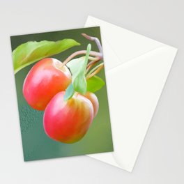 Wild apples, watercolors Stationery Cards