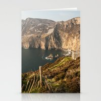 league Stationery Cards featuring Slieve League by Marie Carr