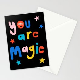 OG - wacka 80's retro typography positive affirmations pop art print Stationery Cards
