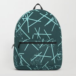 Mikado Pattern Graphic Design - turquoise background Backpack