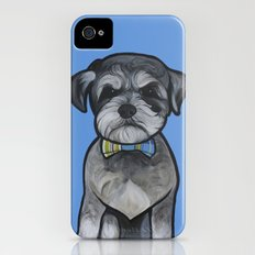 Gus the schnauzer mix iPhone (4, 4s) Slim Case