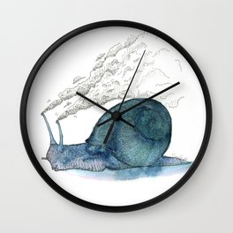 Escargot fumant Wall Clock