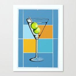 Tennis Martini Canvas Print