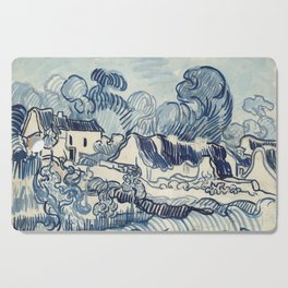 Vincent van gogh Landscape With Houses 1890 Cutting Board