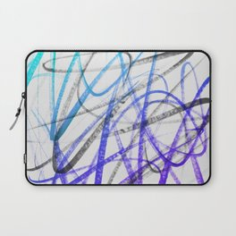 Expressive and Spontaneous Abstract Marker Laptop Sleeve
