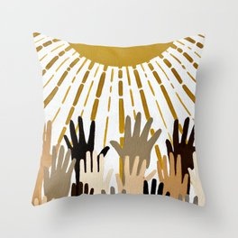 Seek The Sun Throw Pillow