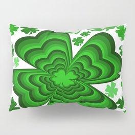 Lucky 4 Leaf Clover Pillow Sham