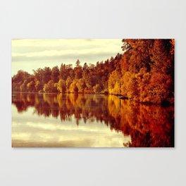 RIVER AUTUMNAL REFLECTION Canvas Print
