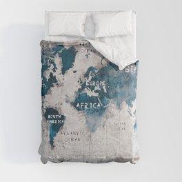 world map 13 #worldmap #map #world Comforters