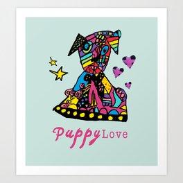 Puppy Lov Art Print