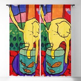 Cat with Red Fish- Henri Matisse Blackout Curtain