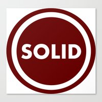 solid Canvas Prints featuring SOLID by Mariyas