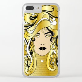 I AM WOMAN Clear iPhone Case