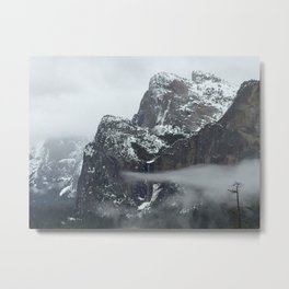 The Cloud Finger Metal Print