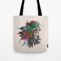 indian Tote Bags featuring Indian  by mark ashkenazi