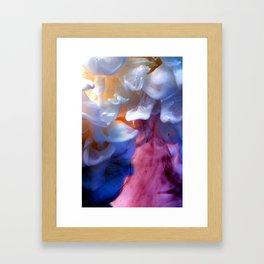 Milk petals Framed Art Print