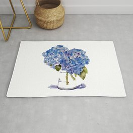 Hydrangea painting Rug
